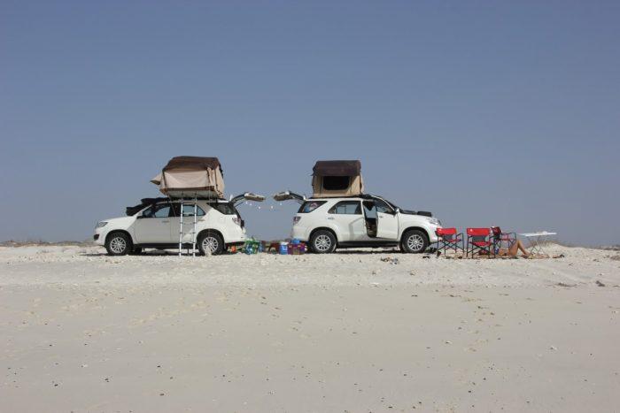 kamperen op Masirah Island