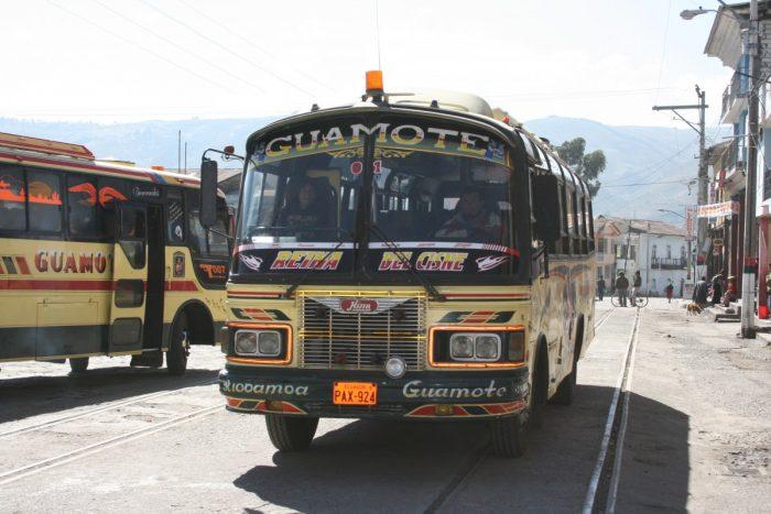 bus naar Guamote Ecuador