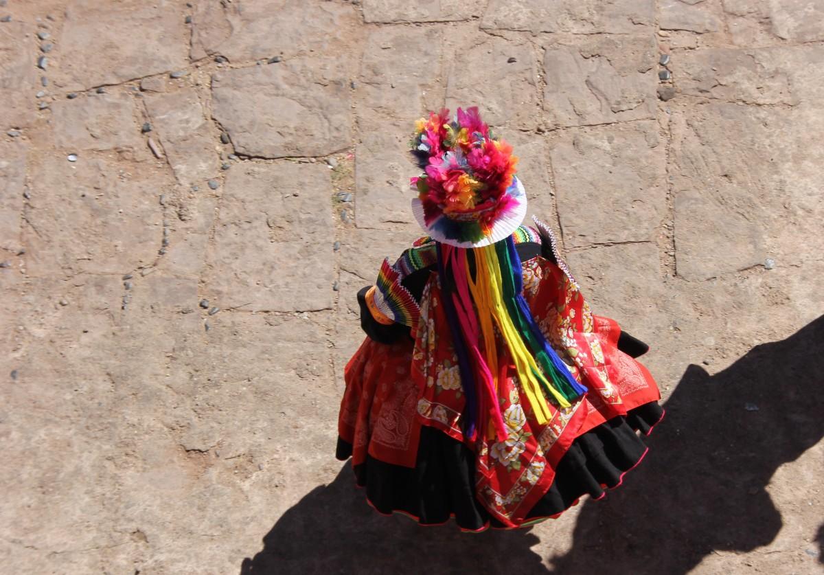 kleurrijke kleding Peru