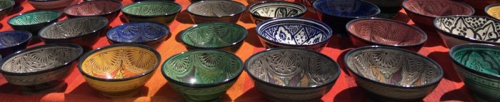gekleurd Marokkaans aardewerk