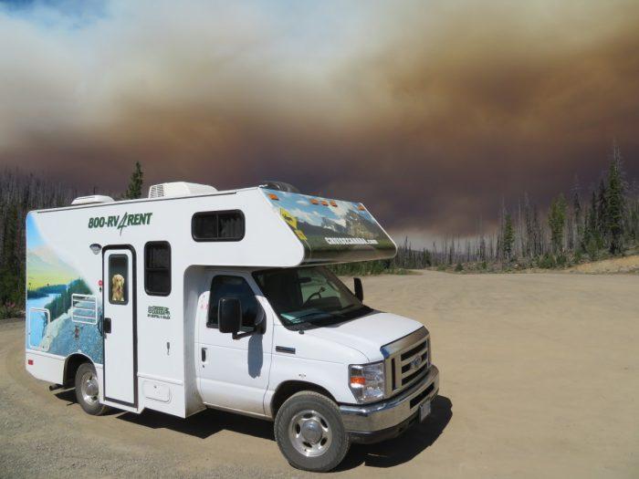 Bosbranden onderweg met de camper