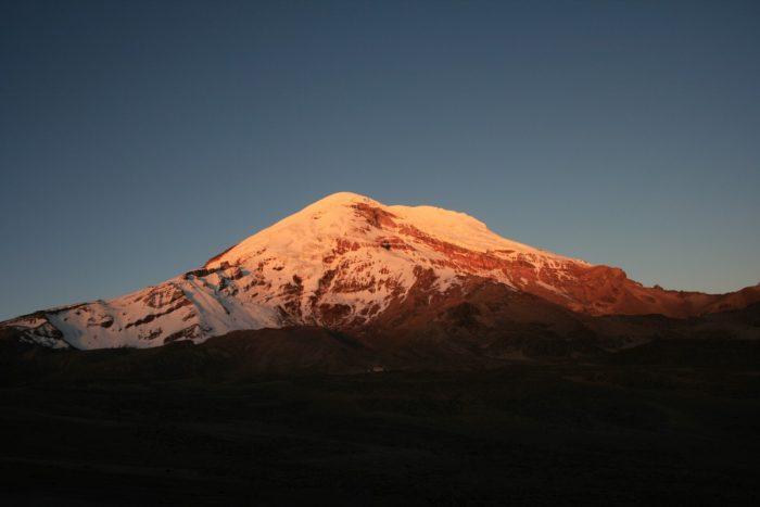 zonsondergang chimbarazo