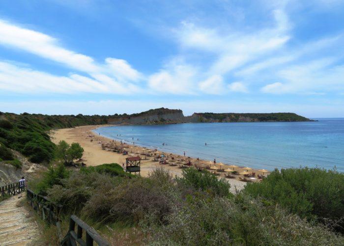 uitzicht op Gerakas Beach