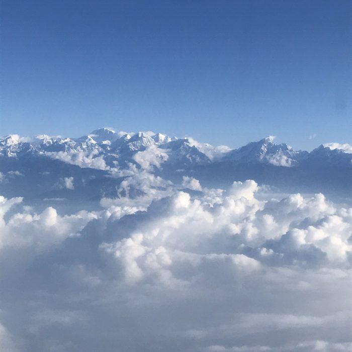 vlucht over de Mount Everest