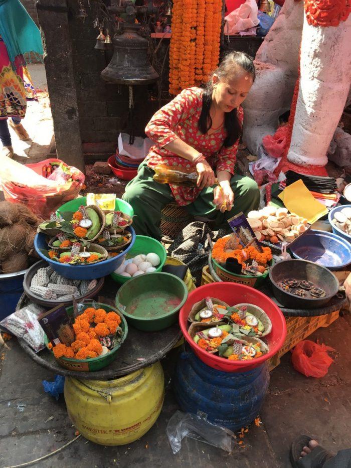 Marktkraam kathmandu