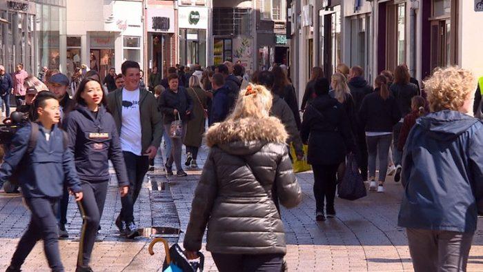 drukte in centrum Tilburg