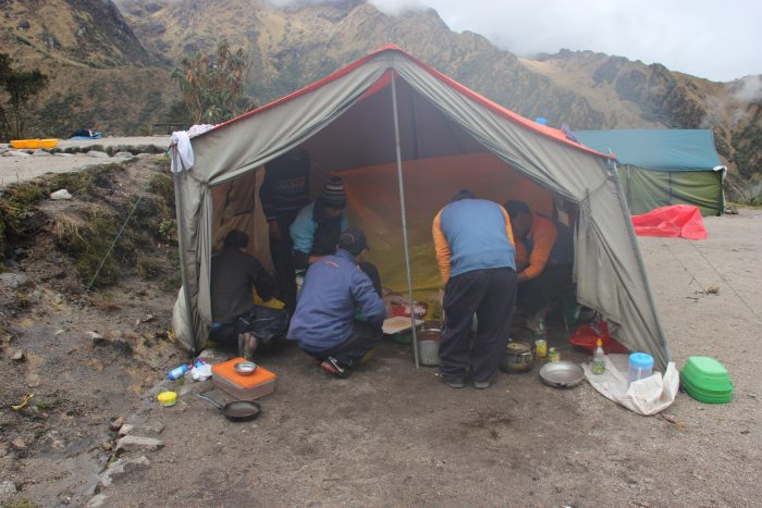 lunch in tent