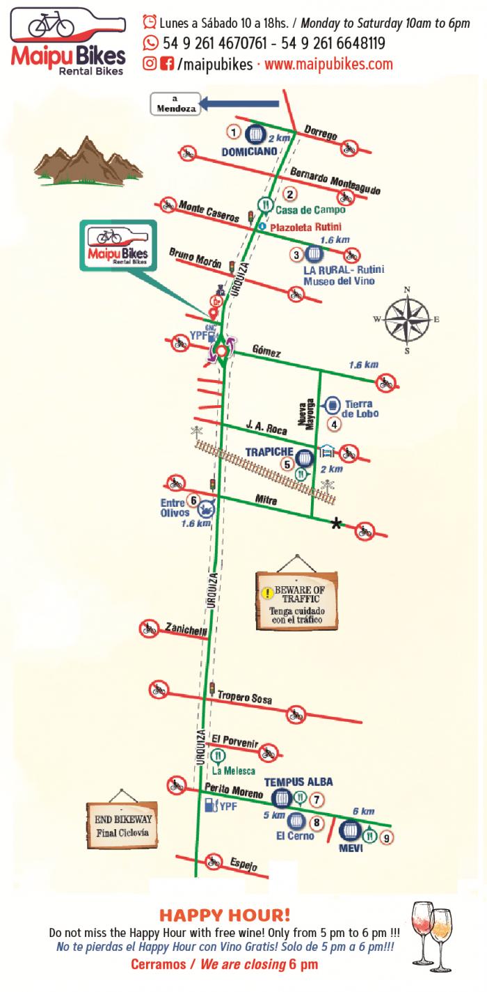 route wijnboerderijen mendoza