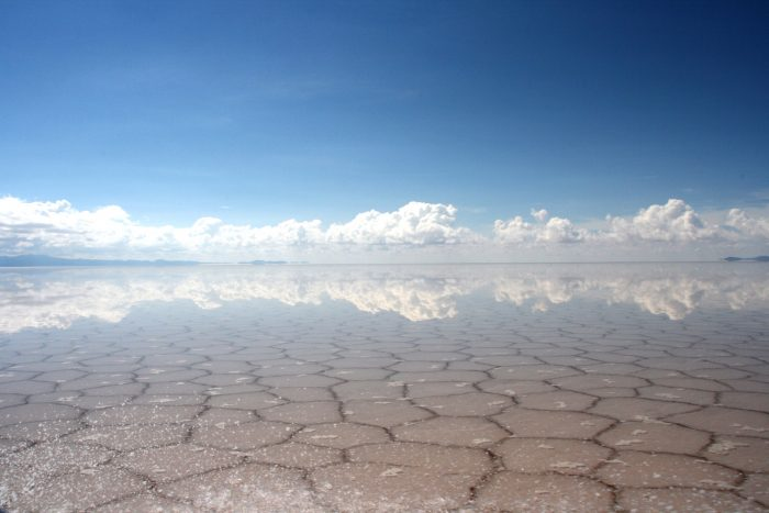 weerspiegeling zoutvlakte Bolivia