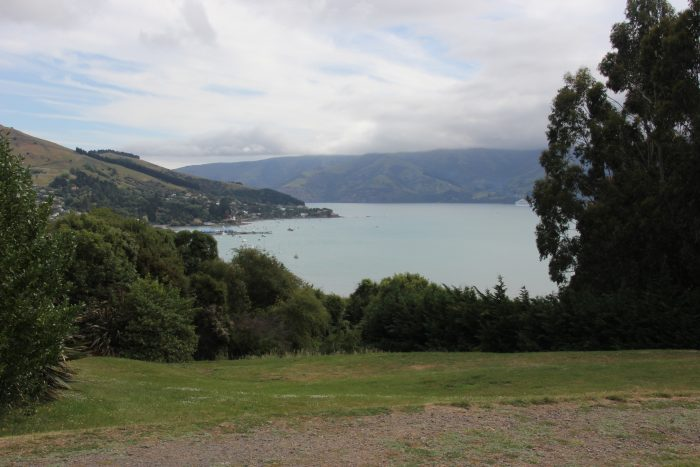 uitzicht baai Akaroa