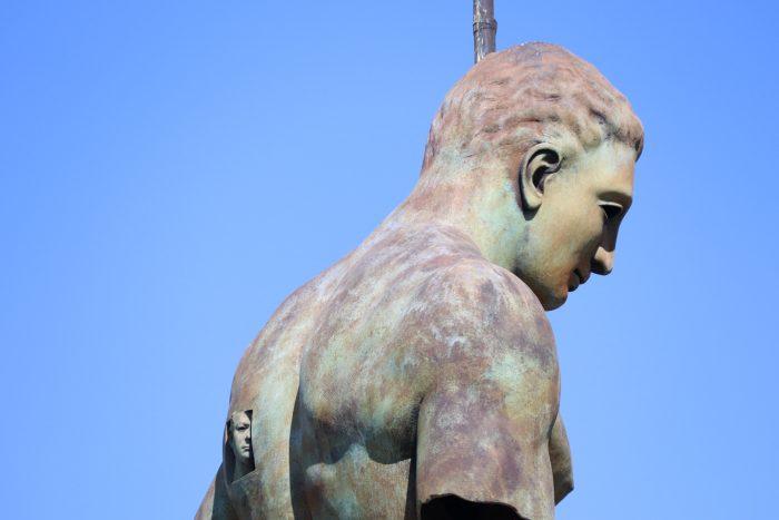 Bronzen beeld man Pompeï