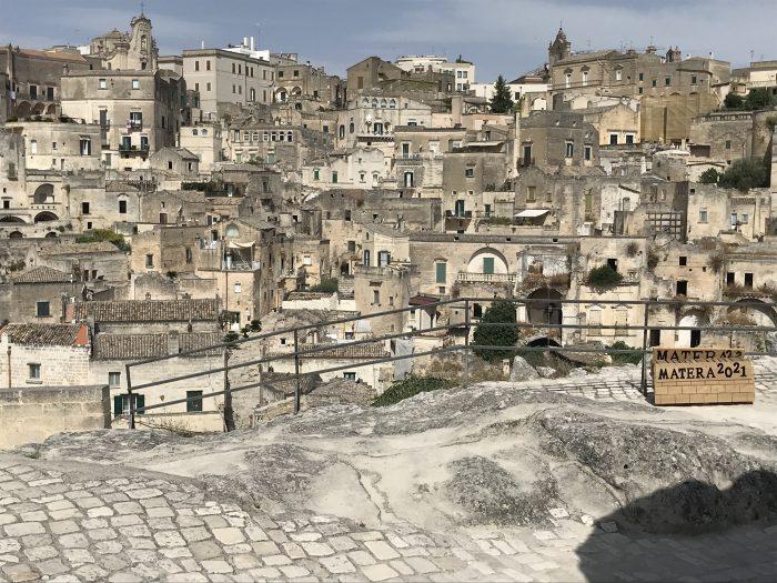 Uitzicht matera Puglia Italië lie