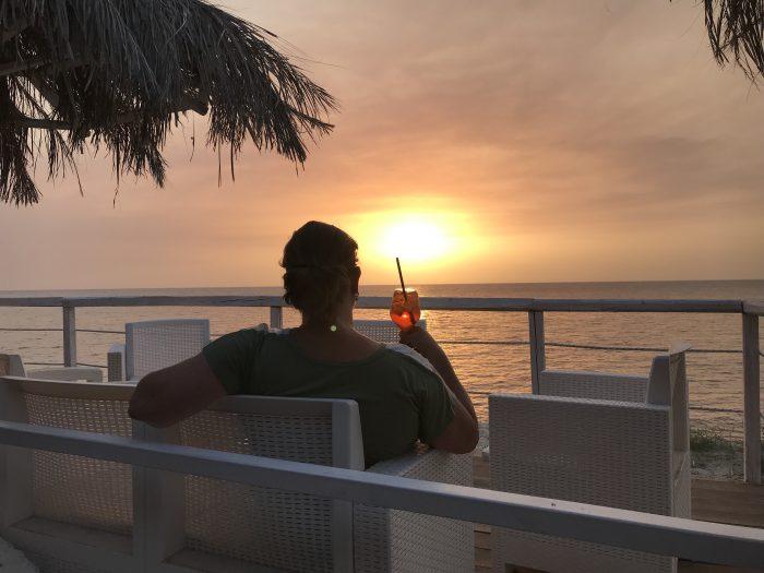 Zonsondergang vakantie Zuid-Italië